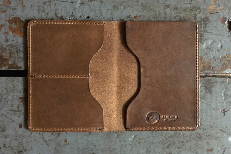 Ashland Leather Co. Herbie Traveller Natural Chromexcel Passport Wallet
