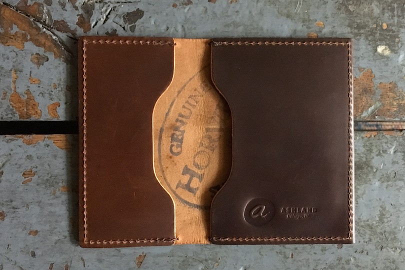 """Ashland Leather Co. Louis """"Little New York"""" Cordovan Front Pocket Wallet"""