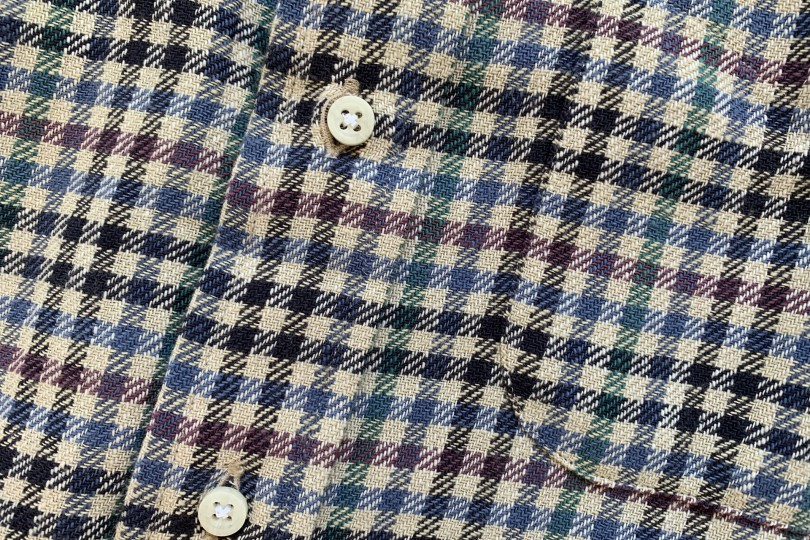 Gitman Bros. Vintage Long Sleeve Button Down  Navy Gingham