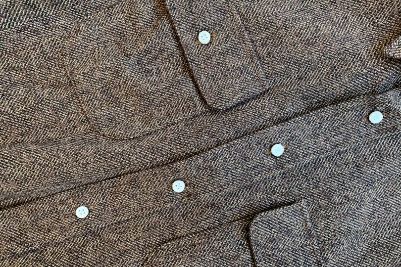 Gitman Bros. Vintage Long Sleeve Button Down  Brown Tweed