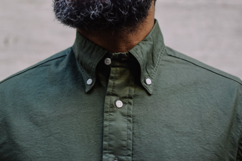 Gitman Bros. Vintage Oxford Shirt Olive Overdye