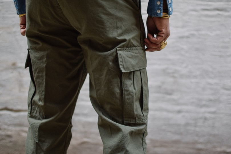 Orslow 6 Pocket Cargo Fatigue Pants Olive Ripstop