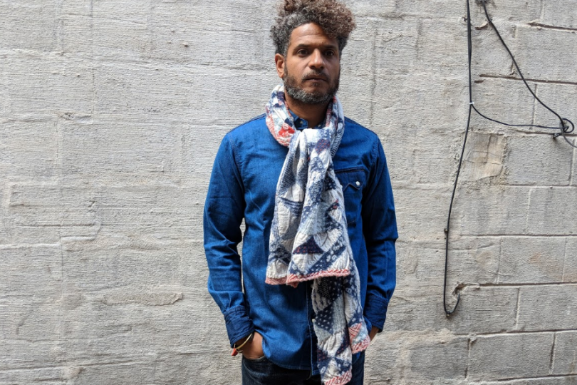 Kapital Compressed Wool Scarf Trico Patchwork Quilt