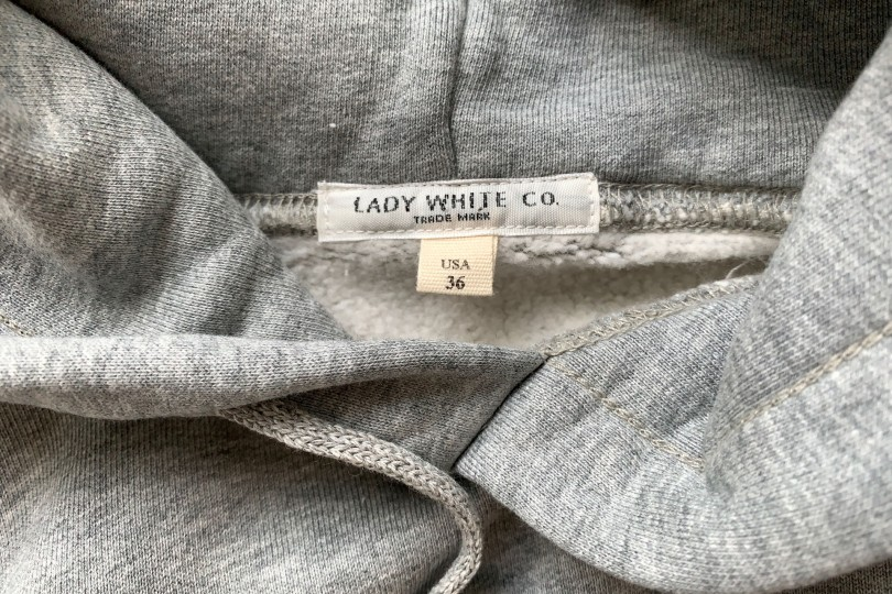 Lady White Co. Hoodie Heather Grey Hooded Sweatshirt