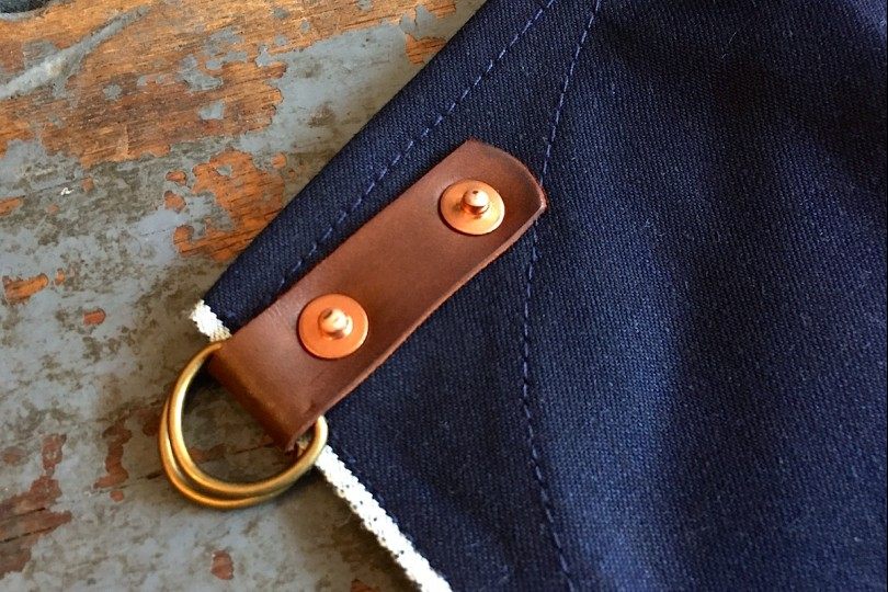 Stanley & Sons Standard Apron with Leather Straps Blue Chambray