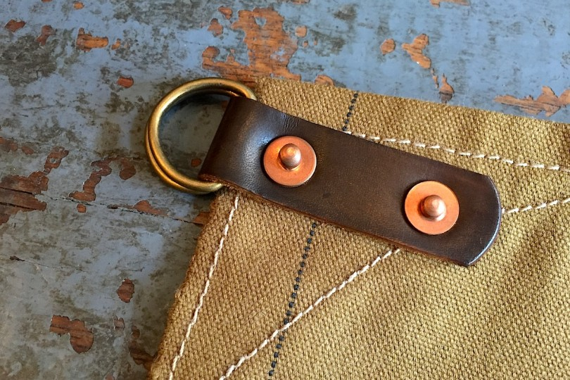 Stanley & Sons Apron with Leather Straps Duck Canvas