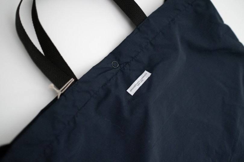 Engineered Garments EG Carry All Tote Navy Acrylic Coated Nylon