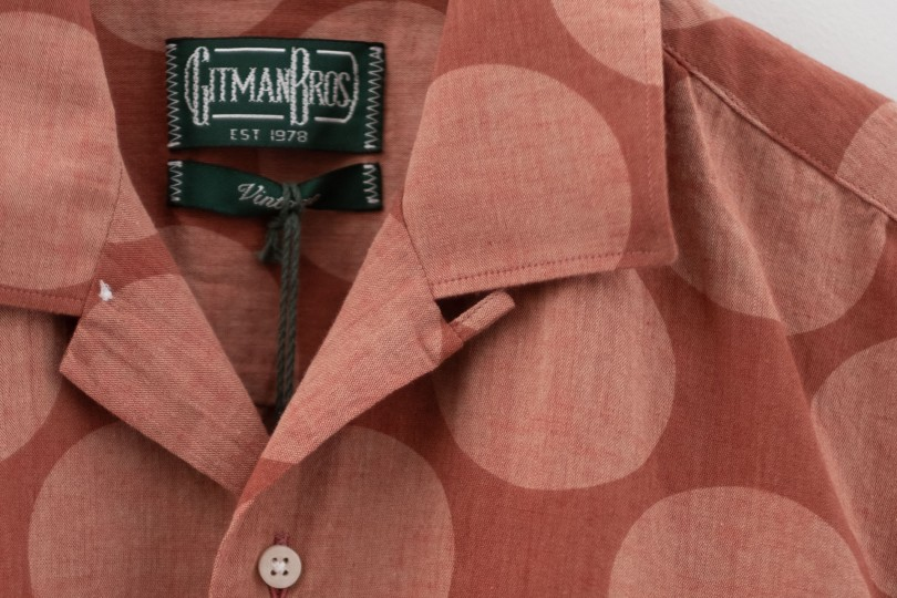 Gitman Bros. Vintage Camp Shirt Brick Dot