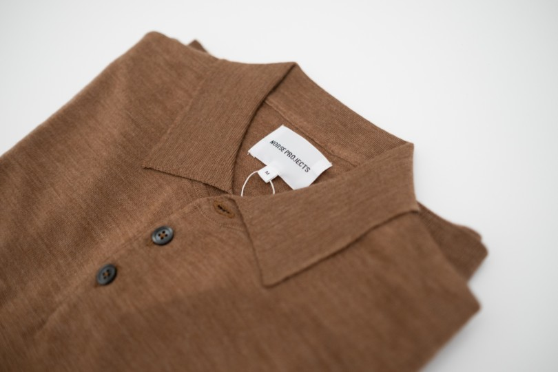 Norse Projects Johan Merino Polo Russet