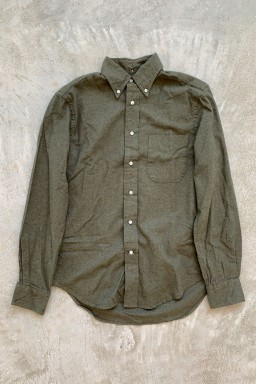 Gitman Bros. Vintage Classic Long Sleeve Flannel  Olive Flannel