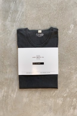 "Lady White Co. Two Pack T-Shirts ""Grindle Wash"" Black Cotton"